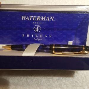 Waterman new in box blue marble phileas pen